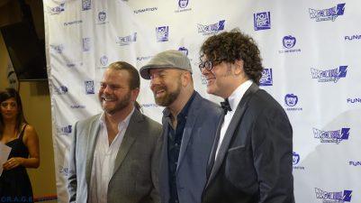 Justin Cook (Left), Christopher Sabat (Center), Sean Schemmel (Left)