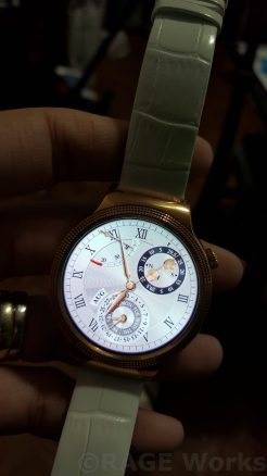 One of the many available watch faces on the Huawei Smartwatch Elegant.