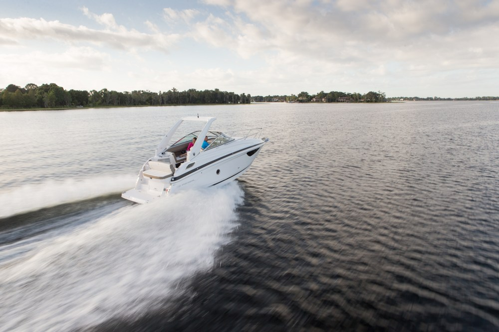 medium resolution of the deep v in the hull gives the 28 express a smooth ride always