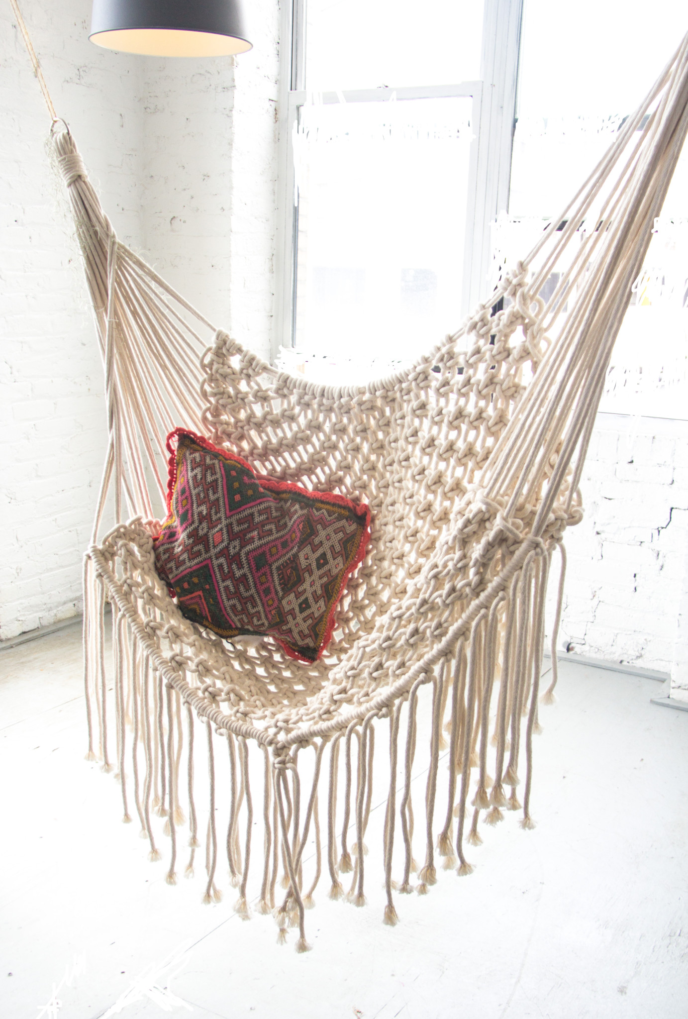 hanging chair mr price rocking realty white macrame hammock patina