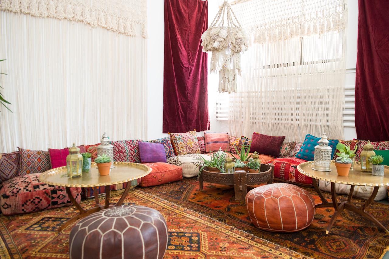 Moroccan Floor Pillows Neutral  Patina