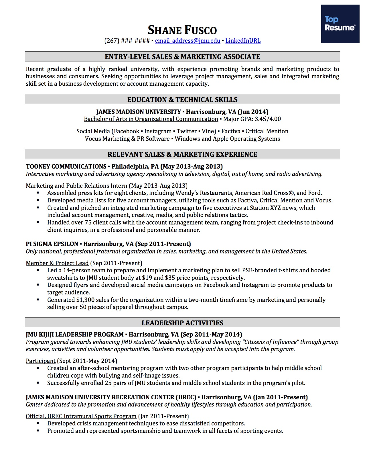 Resume Template For No Job Experience How To Write A Resume With No Job Experience Topresume
