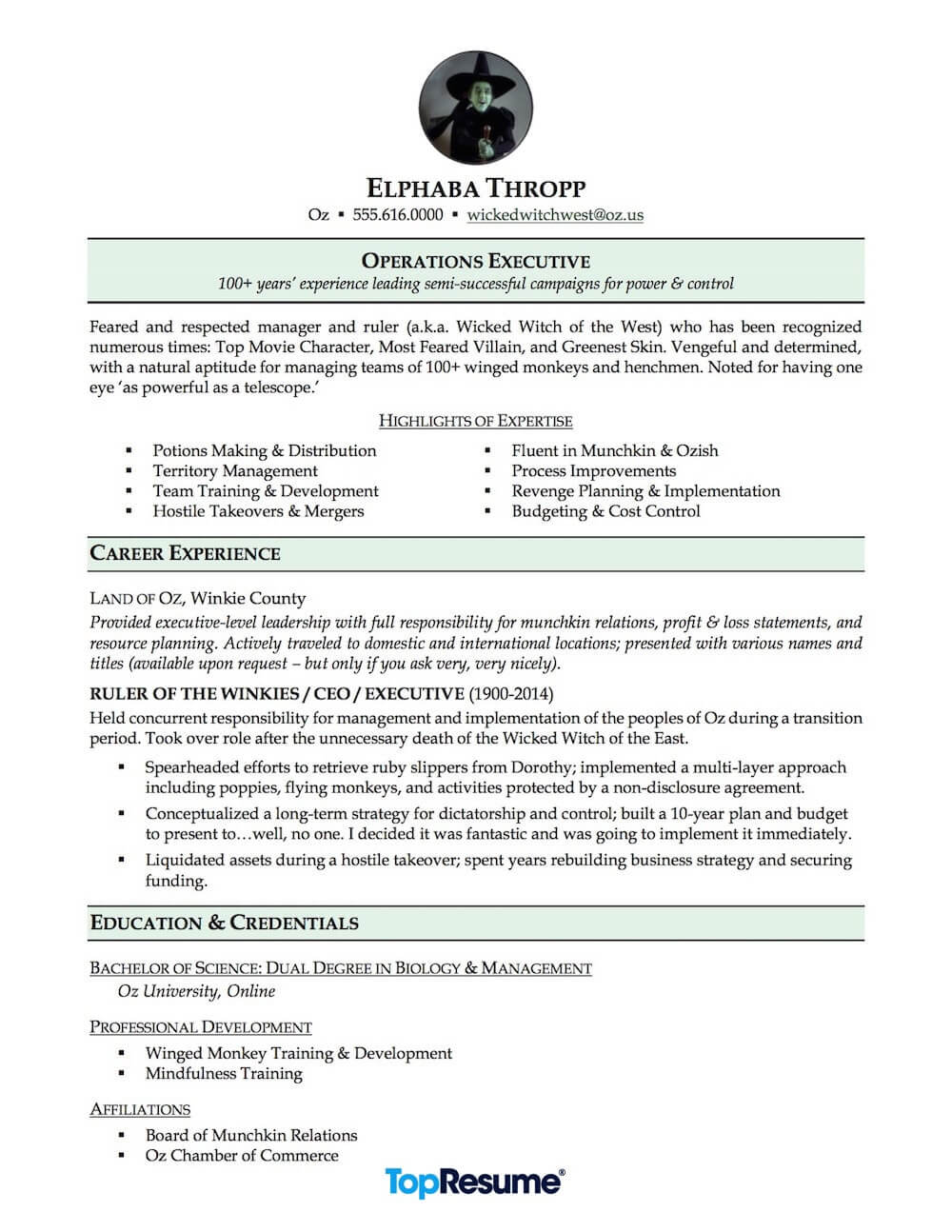 Career Change Resume Sample Nightmare Resume Makeovers Topresume