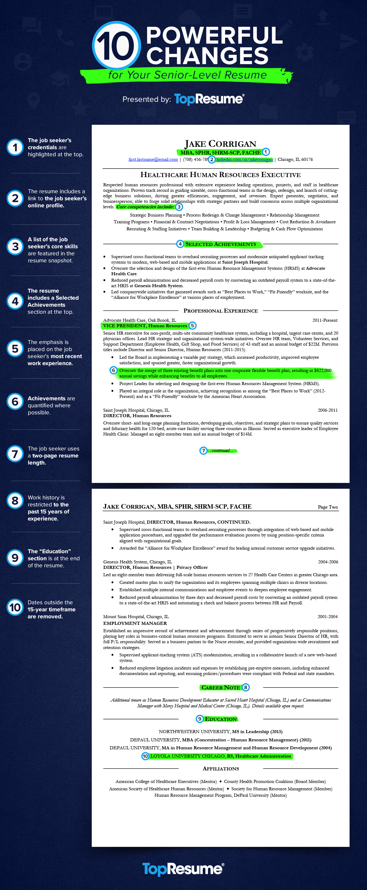 best resume template mid to senior
