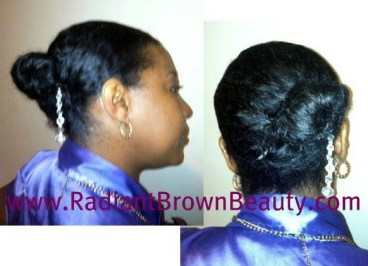 twist and clip hairdo