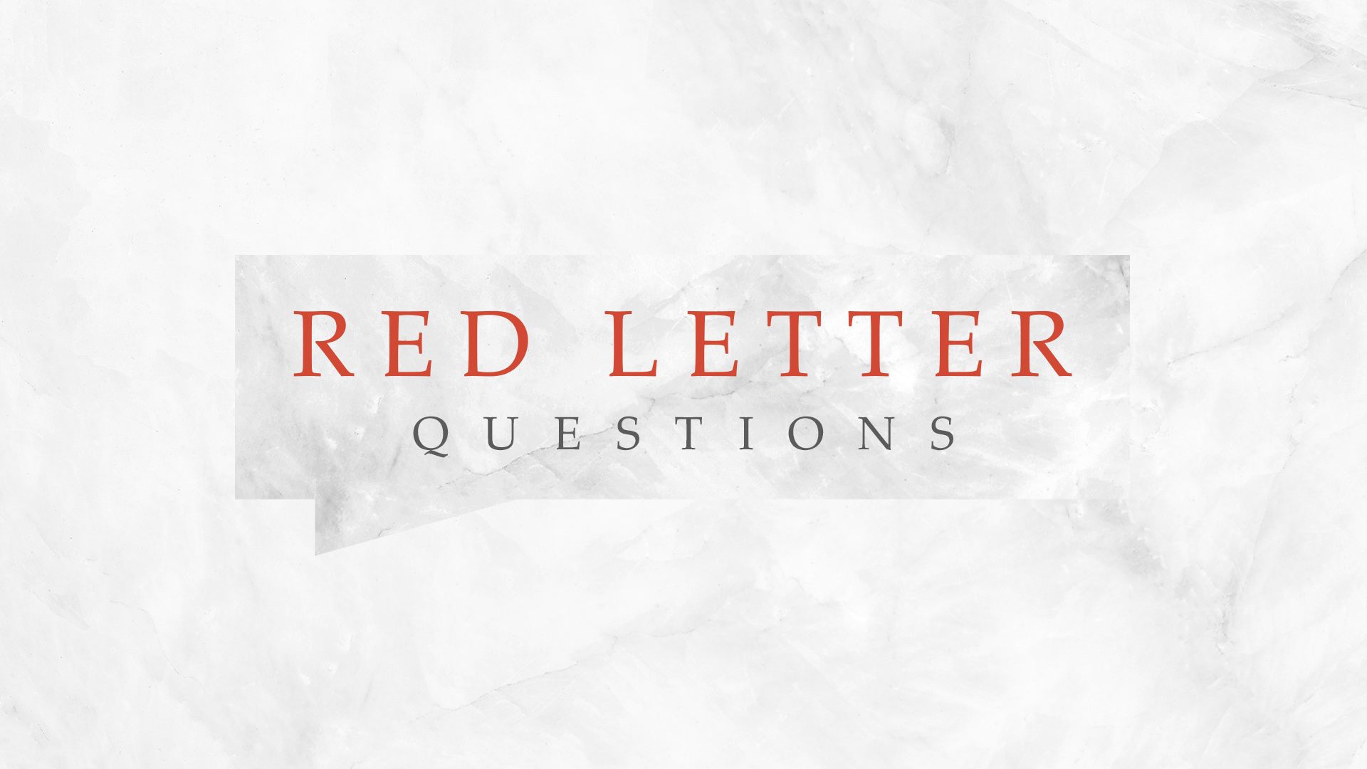 Red Letter Questions – Part 5