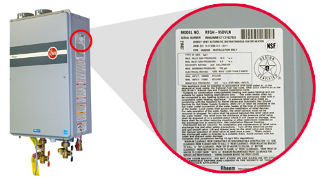 Rheem Product Warranty Information