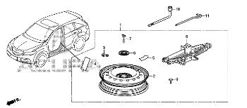 Original Tire, Spare Kit for 2016-2018 Acura RDX 5-DOOR