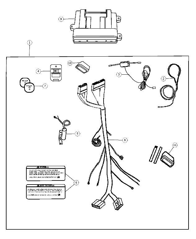 2006-2007 Jeep Commander Remote Start Install Kit