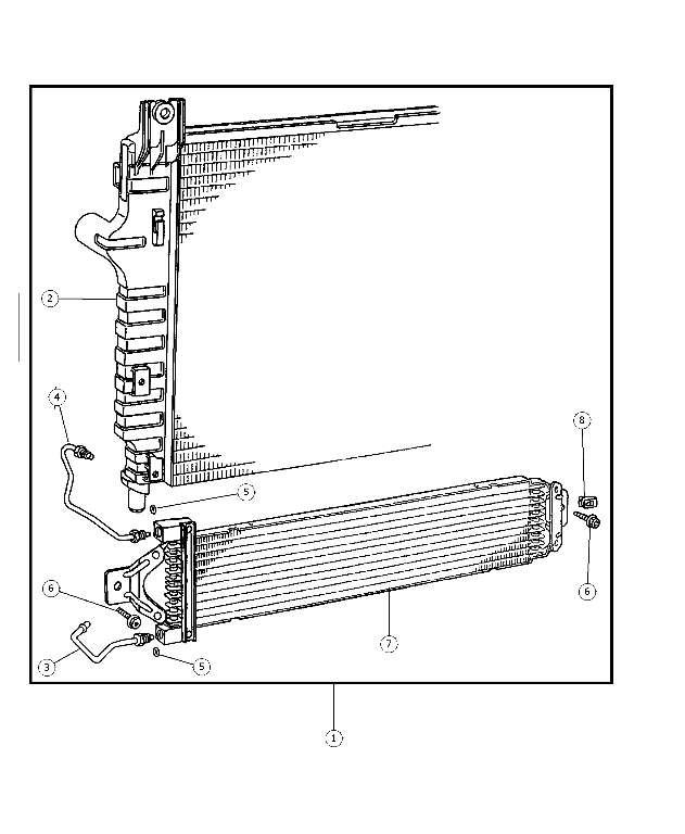 2002-2003 Dodge Cooler Kit, Transmission Oil, Radiator