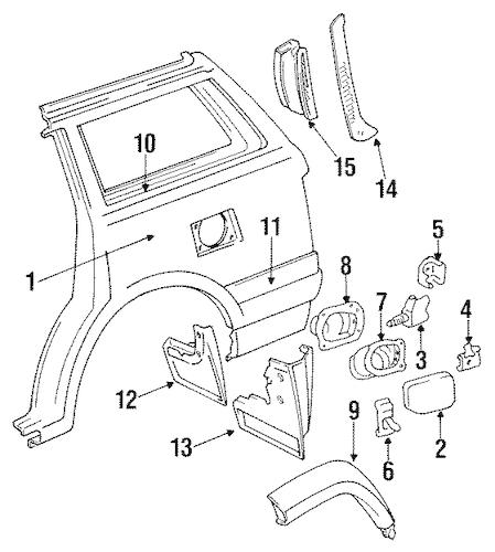 QUARTER PANEL for 1992 Toyota Land Cruiser
