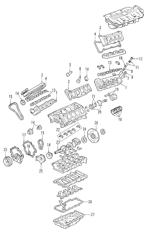 ENGINE for 2004 Cadillac Seville (SLS)