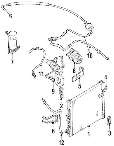 CONDENSER, COMPRESSOR & LINES for 1993 Ford F-150