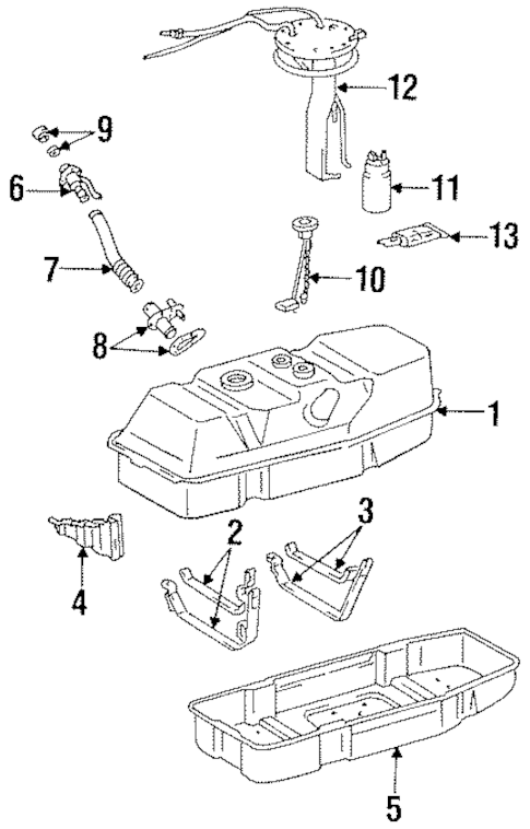 Genuine OEM FUEL SYSTEM COMPONENTS Parts for 1996 Toyota