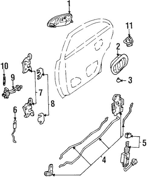 REAR DOOR for 1999 Ford Escort