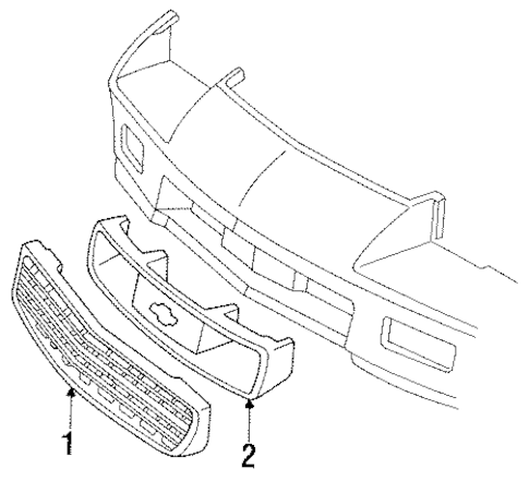 OEM GRILLE & COMPONENTS for 1992 Chevrolet Camaro