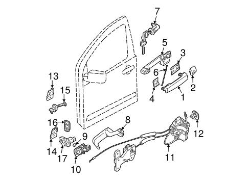 2005-2013 Nissan Titan Armada Chrome Door Handle Key Hole