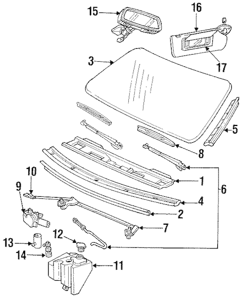 WIPER & WASHER COMPONENTS for 1996 Chevrolet Impala
