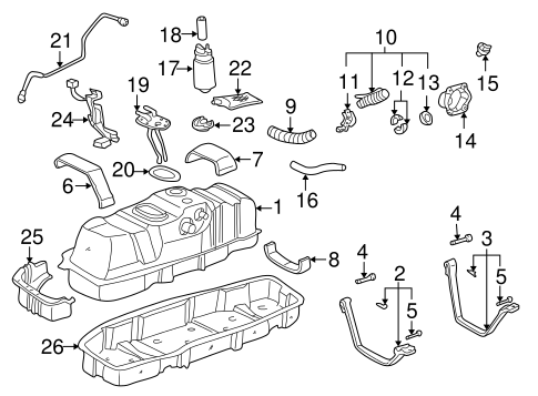 Genuine OEM FUEL SYSTEM COMPONENTS Parts for 2003 Toyota
