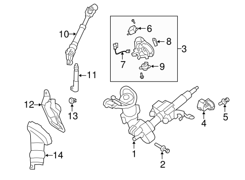 STEERING COLUMN ASSEMBLY for 2010 Toyota Corolla