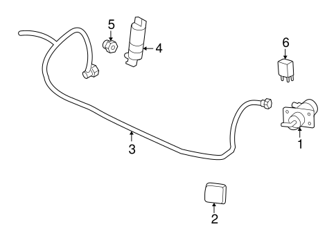 OEM FUEL SYSTEM COMPONENTS for 2004 Chevrolet Trailblazer