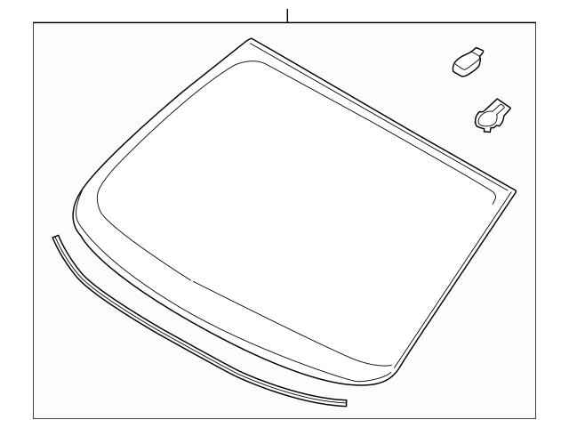 WINDSHIELD for 2013 Ford Fusion|DS7Z-5403100-A