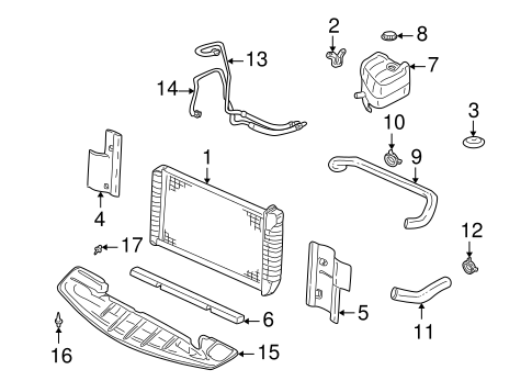 RADIATOR & COMPONENTS for 1999 Cadillac Seville (SLS)