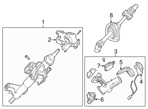 STEERING COLUMN ASSEMBLY for 2015 Chevrolet Captiva Sport (LS)