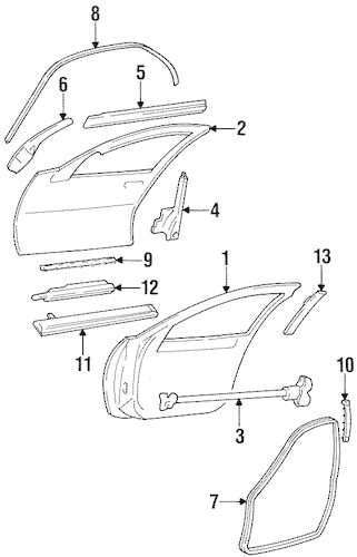 DOOR & COMPONENTS for 1999 Chevrolet Lumina