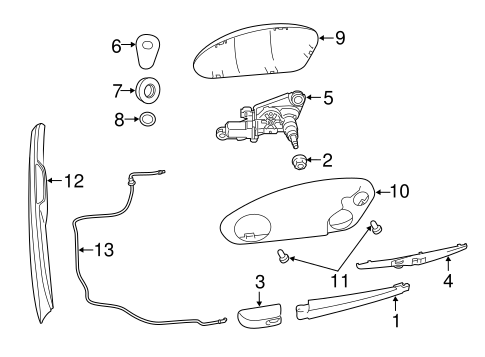WIPER & WASHER COMPONENTS for 2011 Jeep Grand Cherokee