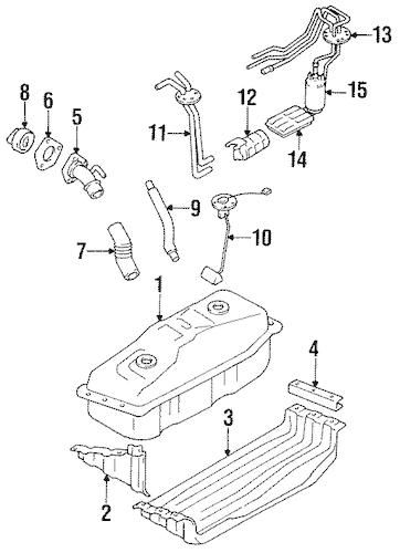 FUEL SYSTEM COMPONENTS for 1994 Toyota Pickup