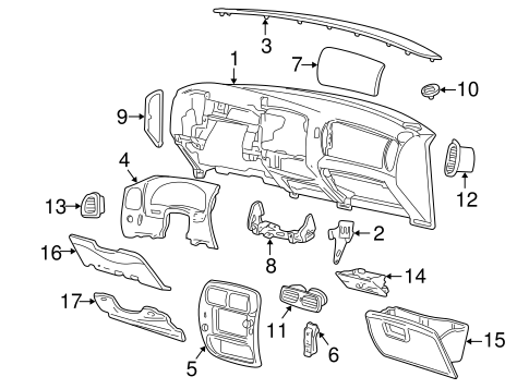 INSTRUMENT PANEL for 2005 Ford Explorer Sport Trac