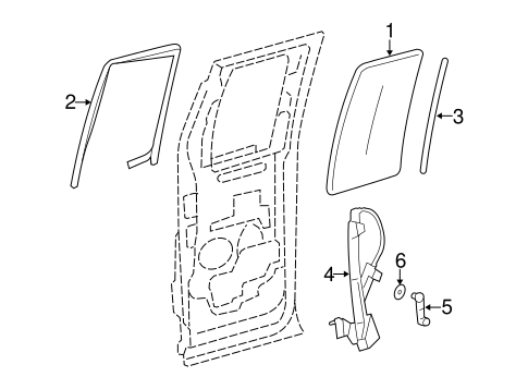 REAR DOOR for 2004 Ford F-150