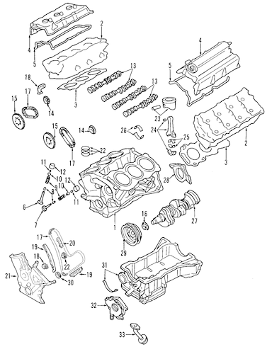TIMING CHAIN for 2008 Ford Edge 7T4Z-6268-A