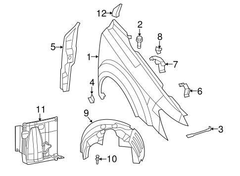 Service manual [2002 Dodge Caravan Front Fender Removal