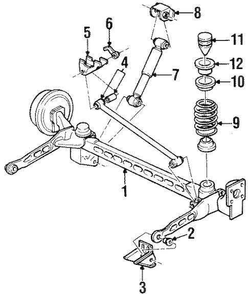 REAR SUSPENSION for 2004 Oldsmobile Silhouette (GLS)