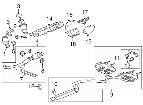 EXHAUST COMPONENTS for 2010 Buick LaCrosse (CXL)