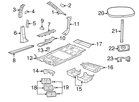 TABLE for 2010 Chrysler Town & Country 1EK23ES3AC