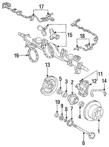 Genuine OEM REAR BRAKES Parts for 1994 Toyota Land Cruiser