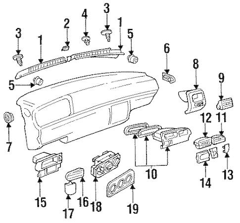 OEM VW AIR DISTRIBUTION SYSTEM for 1996 Volkswagen Jetta