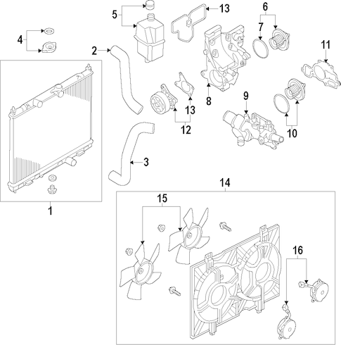 RADIATOR & COMPONENTS for 2014 Nissan NV200