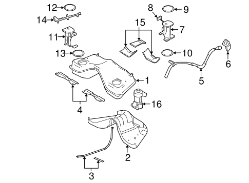 FUEL SYSTEM COMPONENTS for 2007 Ford Mustang
