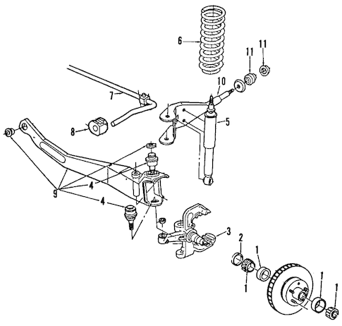 SUSPENSION COMPONENTS for 1997 Ford Ranger