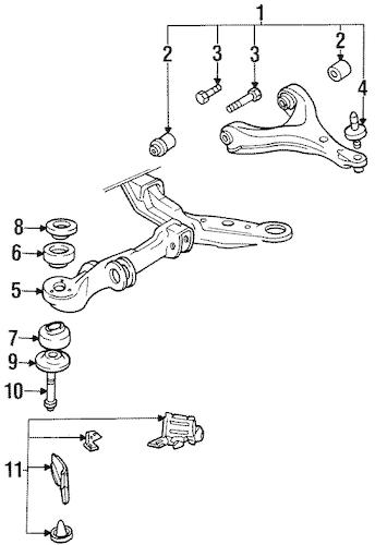 SUSPENSION COMPONENTS for 1997 Oldsmobile 88