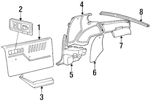 OEM INTERIOR TRIM for 1984 Chevrolet Camaro