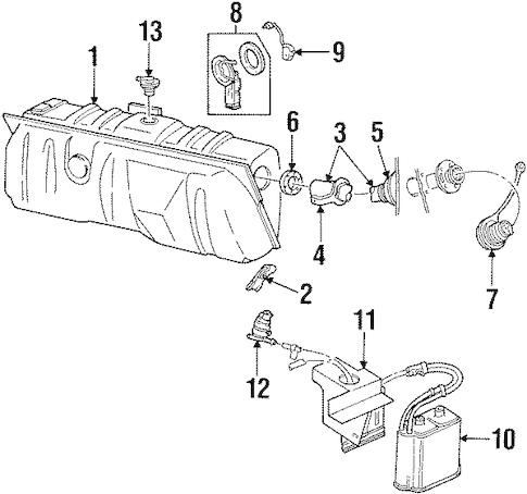 FUEL SYSTEM COMPONENTS for 1995 Mercury Grand Marquis