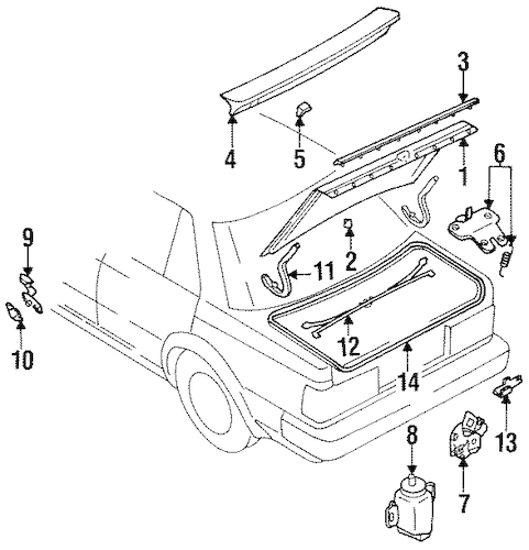 Service manual [1994 Nissan Pathfinder Trunk Torsion Bar