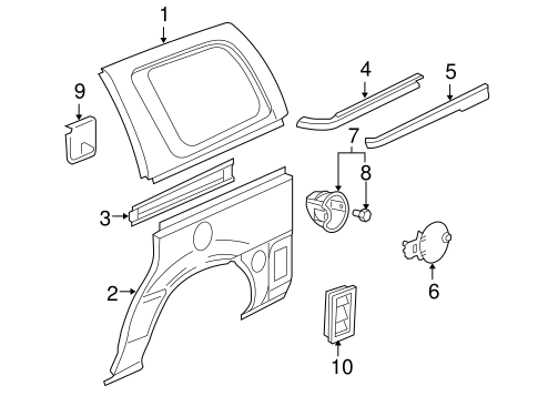 SIDE PANEL & COMPONENTS for 2005 Pontiac Montana