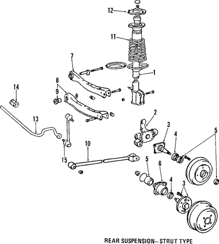 Genuine OEM REAR SUSPENSION Parts for 2003 Toyota Camry LE