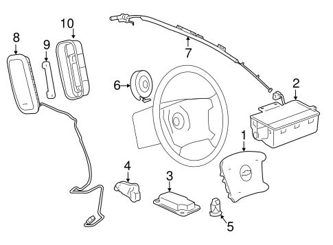 AIR BAG COMPONENTS Parts for 2008 Chevrolet Impala